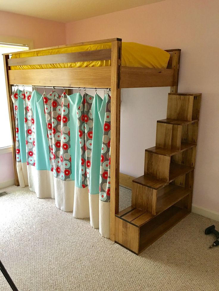 Best ideas about DIY Bunk Beds With Stairs . Save or Pin storage stairs for loft bed diy Now.