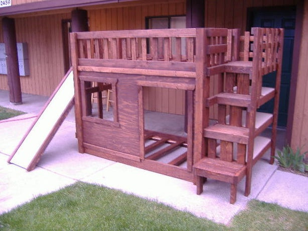 Best ideas about DIY Bunk Beds With Stairs . Save or Pin DIY Bunk Bed set with stairs cubbie shelves and of Now.