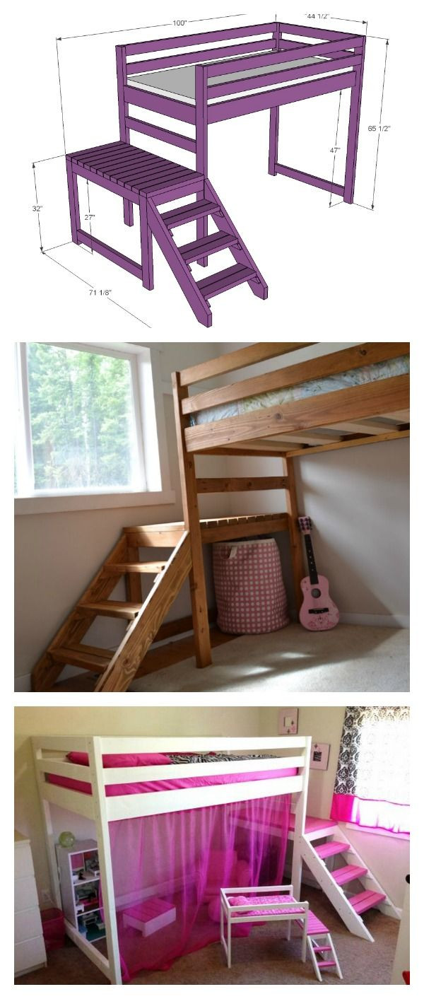 Best ideas about DIY Bunk Beds With Stairs . Save or Pin 681 best images about Home Decor DIY on Pinterest Now.