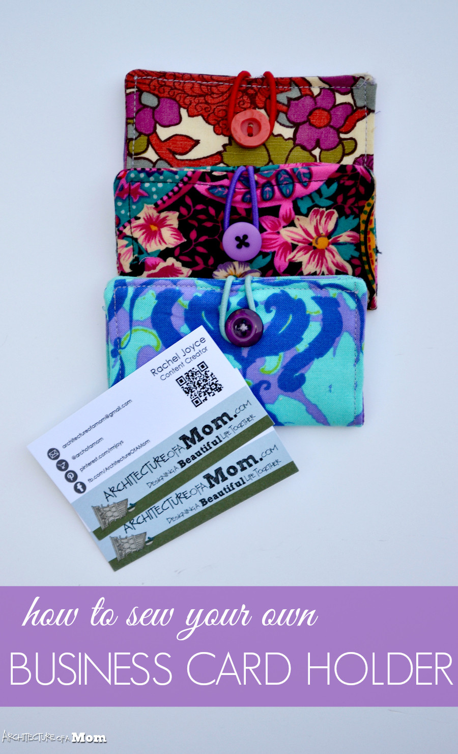 Best ideas about DIY Business Card Holder . Save or Pin Architecture of a Mom How to Sew A Business Card Holder Now.