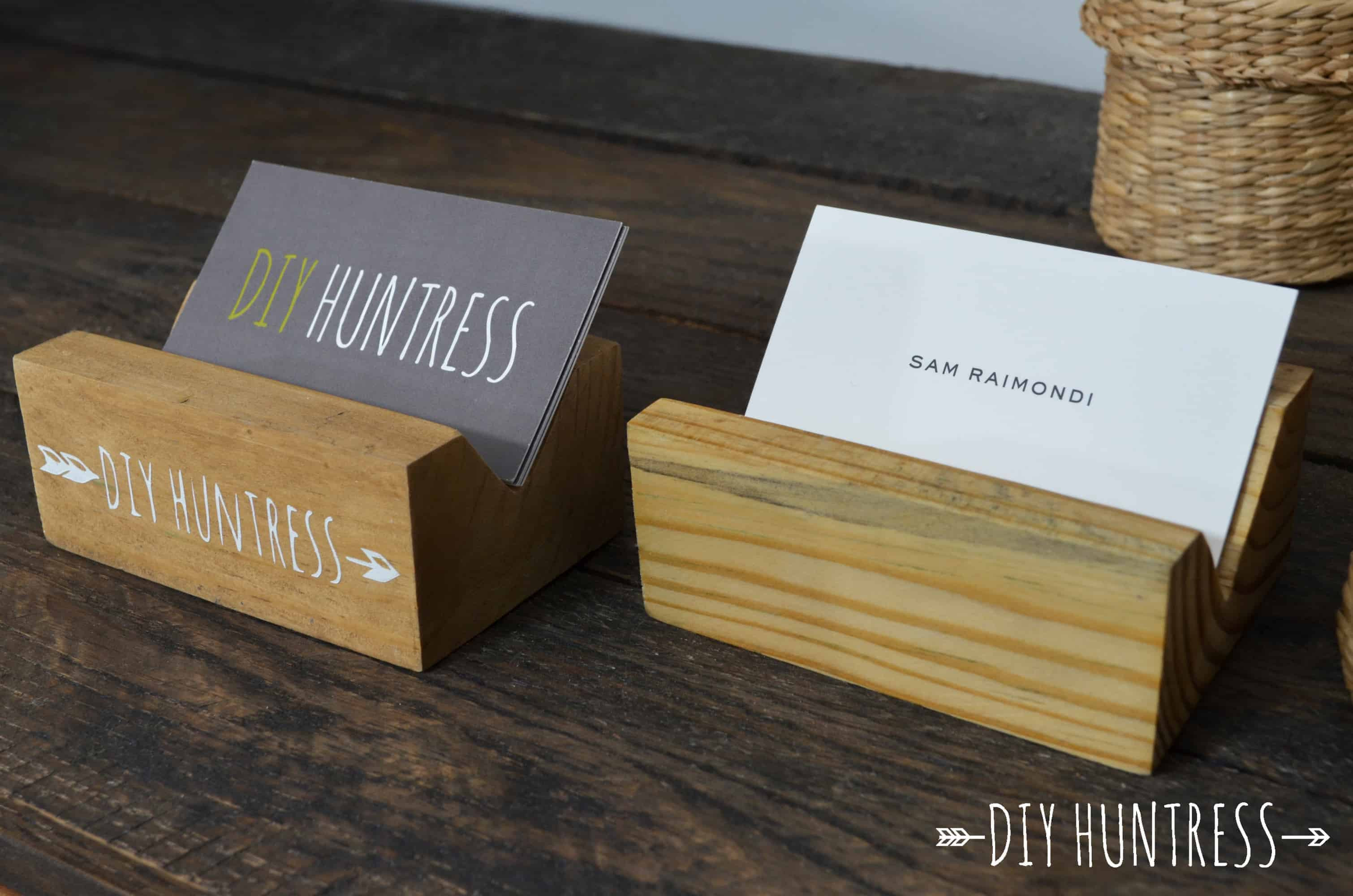 Best ideas about DIY Business Card Holder . Save or Pin DIY Wooden Business Card Holder DIY Huntress Now.