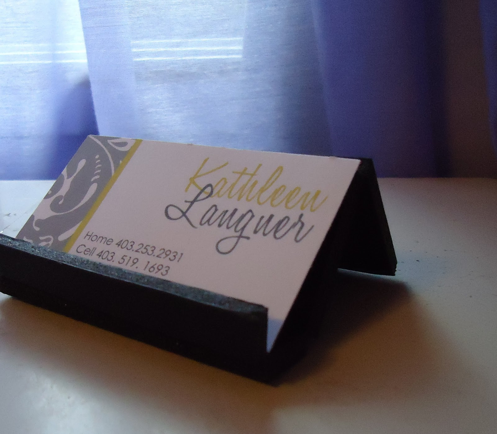 Best ideas about DIY Business Card Holder . Save or Pin Sweet & Simple DIY Business Card Holder DIY Now.