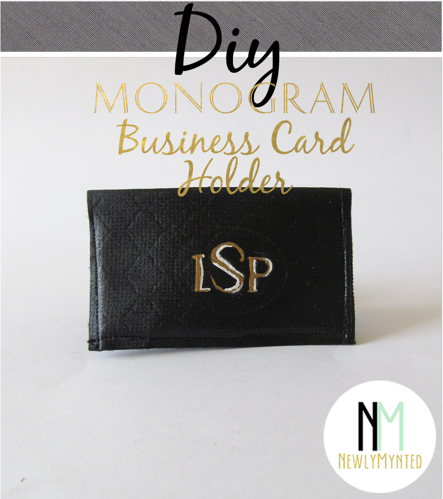 Best ideas about DIY Business Card Holder . Save or Pin Put A Bird It DIY Monogram Business Card Holder Now.