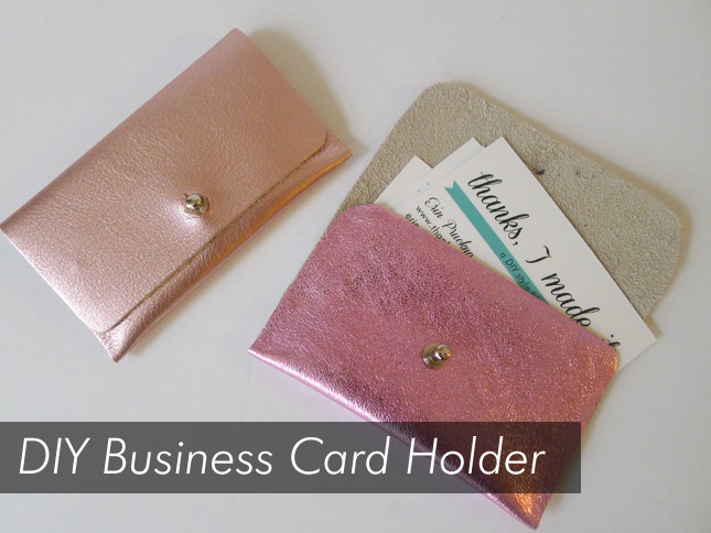 Best ideas about DIY Business Card Holders . Save or Pin DIY Business Card Case – Craftbnb Now.