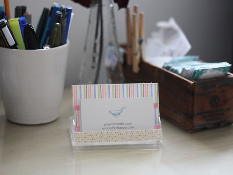 Best ideas about DIY Business Card Holders . Save or Pin DIY Business Card Holder and Desk Calendar Rockville Now.