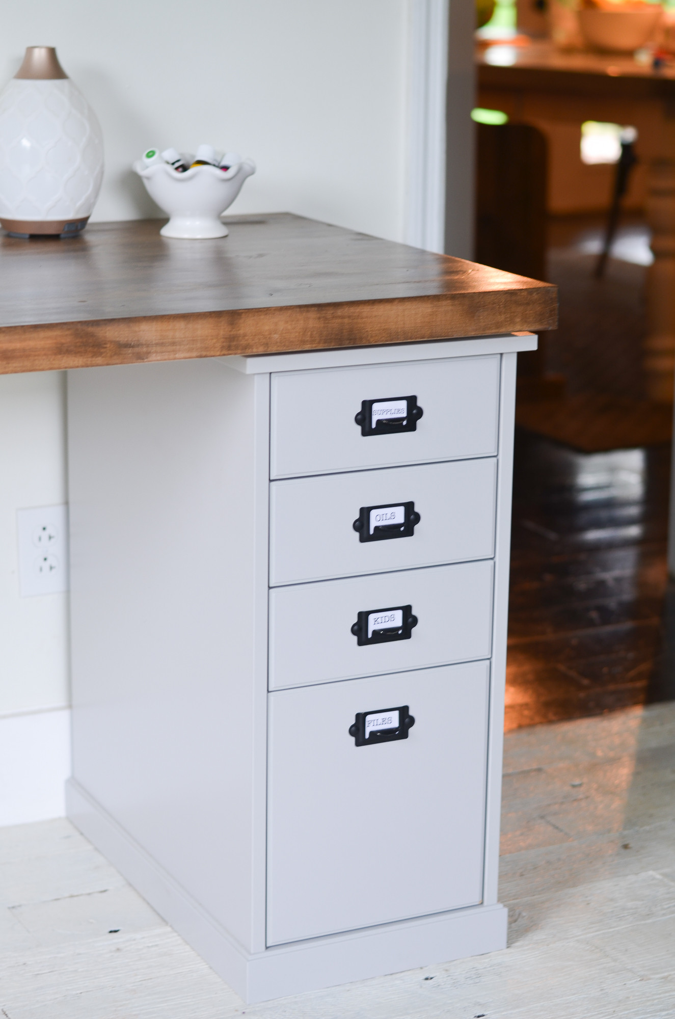 Best ideas about DIY Butcher Block Desk . Save or Pin DIY Butcher Block Desk for my Home fice Beneath My Heart Now.