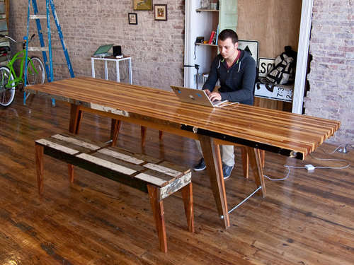 Best ideas about DIY Butcher Block Desk . Save or Pin Turn Scrap Wood Into An Awesome Laminate Table Now.