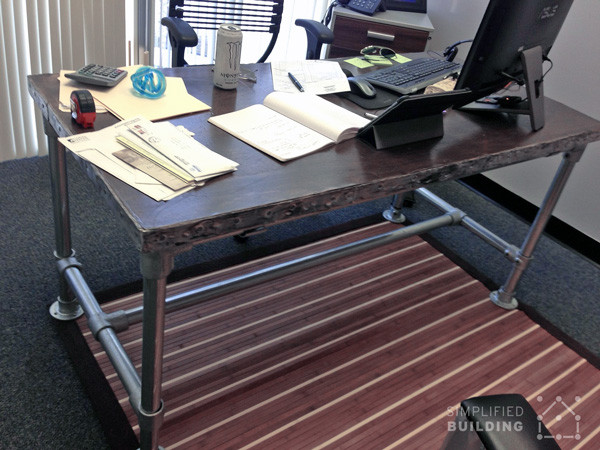 Best ideas about DIY Butcher Block Desk . Save or Pin Rugged Butcher Block Desk Now.