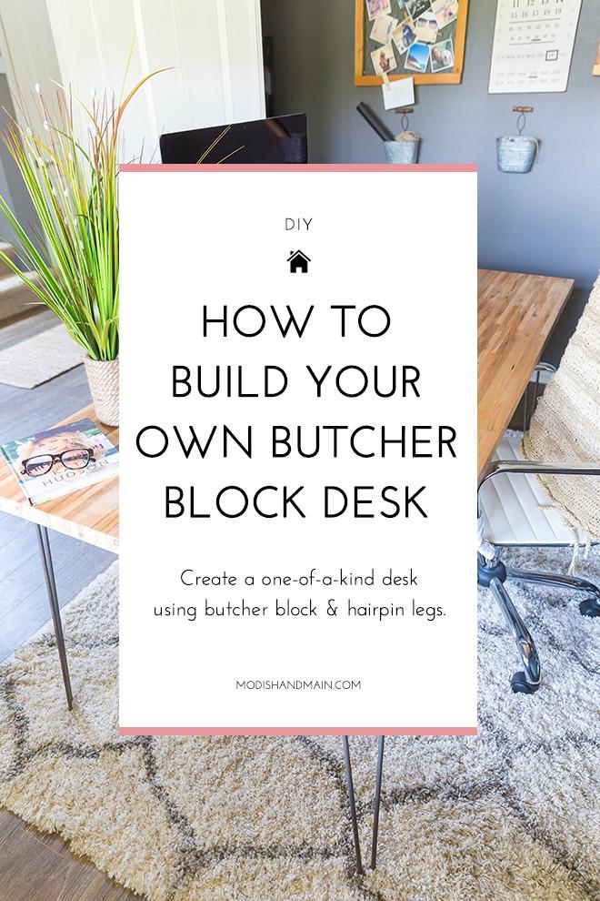 Best ideas about DIY Butcher Block Desk . Save or Pin DIY Butcher Block Desk Now.