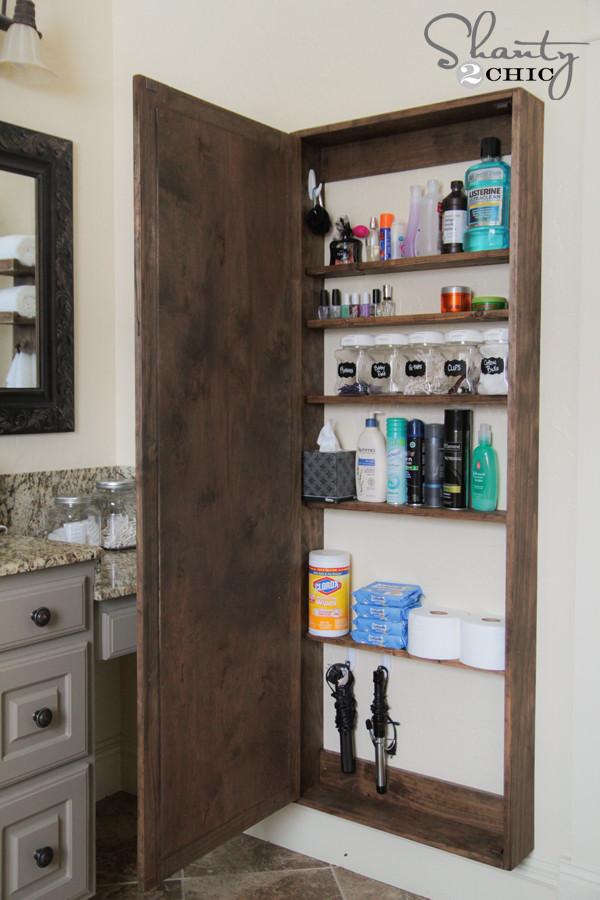 Best ideas about DIY Cabinet Organization . Save or Pin DIY Bathroom Mirror Storage Case Shanty 2 Chic Now.