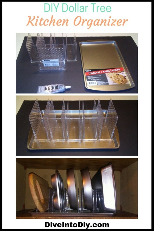 Best ideas about DIY Cabinet Organization . Save or Pin DIY Kitchen Cabinet Organizer from Dollar Tree Now.