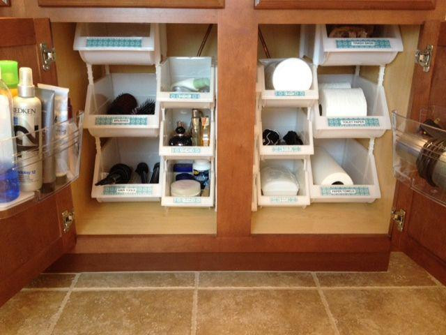 Best ideas about DIY Cabinet Organization . Save or Pin How To Maximize Space In Your Bathroom Cabinet Now.