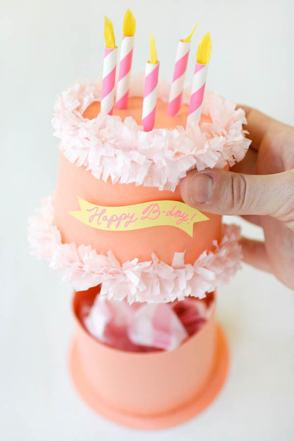 Best ideas about DIY Cake Box . Save or Pin Paper Birthday Cake Box Now.