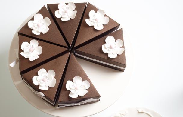 Best ideas about DIY Cake Box . Save or Pin Cake Slice Box DIY Modern Wedding Now.
