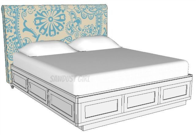 Best ideas about DIY California King Bed Frame . Save or Pin Cal King Platform Storage Bed Free Plans Now.