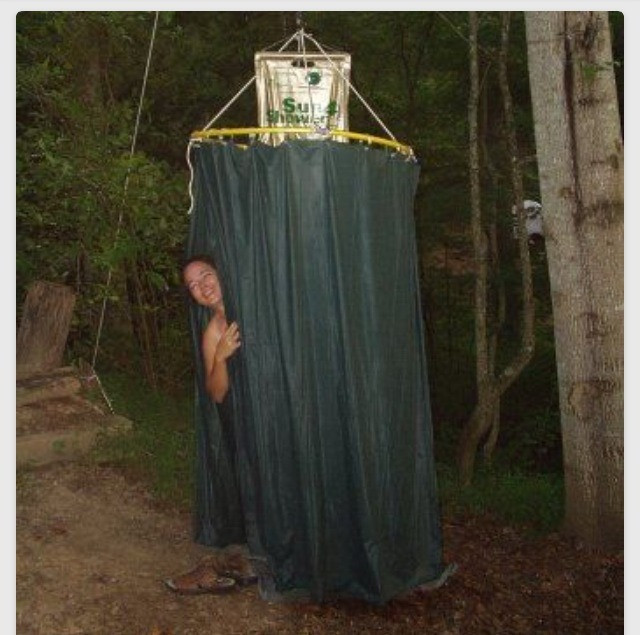 """Best ideas about DIY Camp Showers . Save or Pin Cool Idea """" Make A Shower Enclosure For Camping Out A Now."""