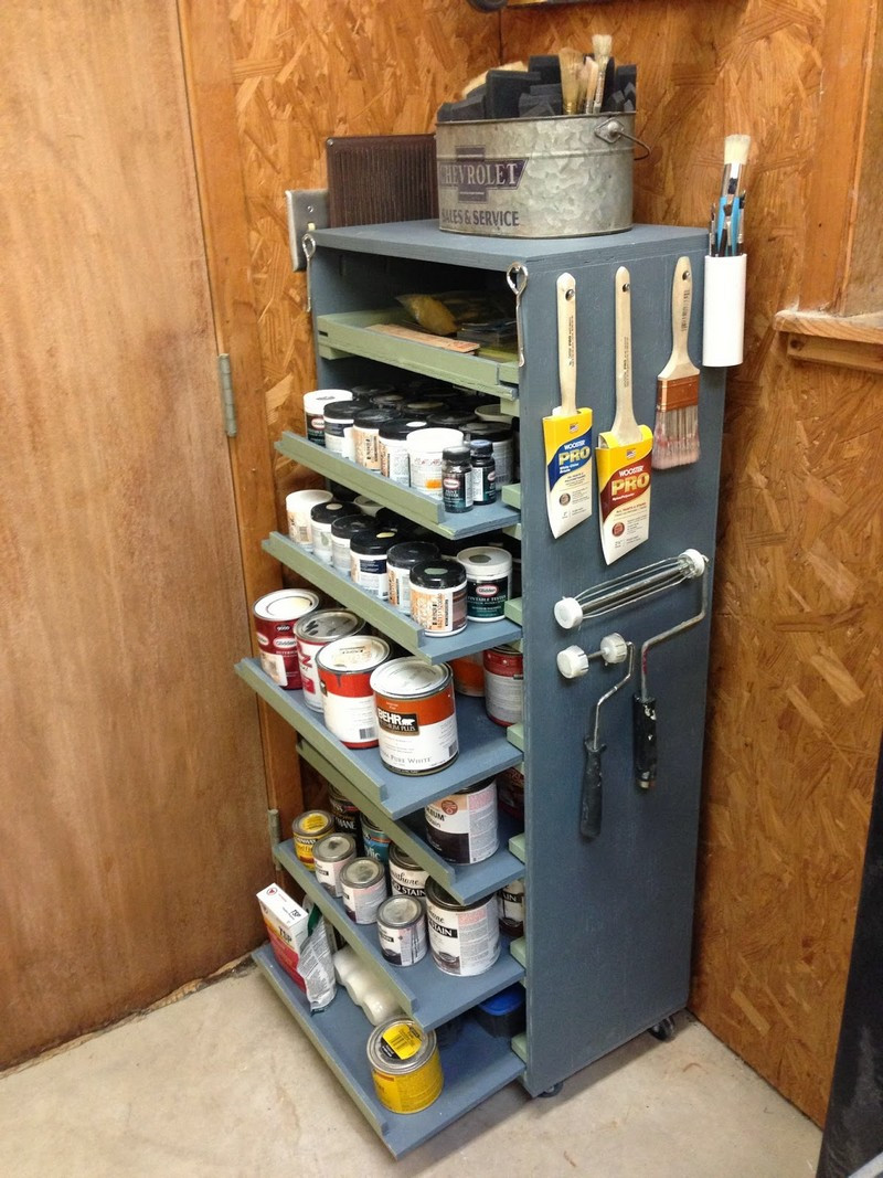 Best ideas about DIY Can Storage . Save or Pin DIY Paint Storage Cabinet Now.