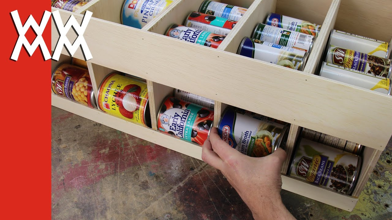 Best ideas about DIY Can Storage . Save or Pin Make a canned food dispenser Organize your January Now.