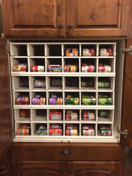 Best ideas about DIY Can Storage . Save or Pin DIY Can Food Rotation System Now.