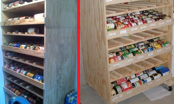 Best ideas about DIY Can Storage . Save or Pin DIY Rotating Canned Food Shelf Plans Now.