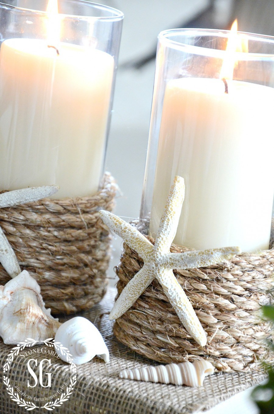 Best ideas about DIY Candle Holders . Save or Pin POTTERY BARN INSPIRED ROPE WRAPPED CANDLEHOLDER DIY Now.