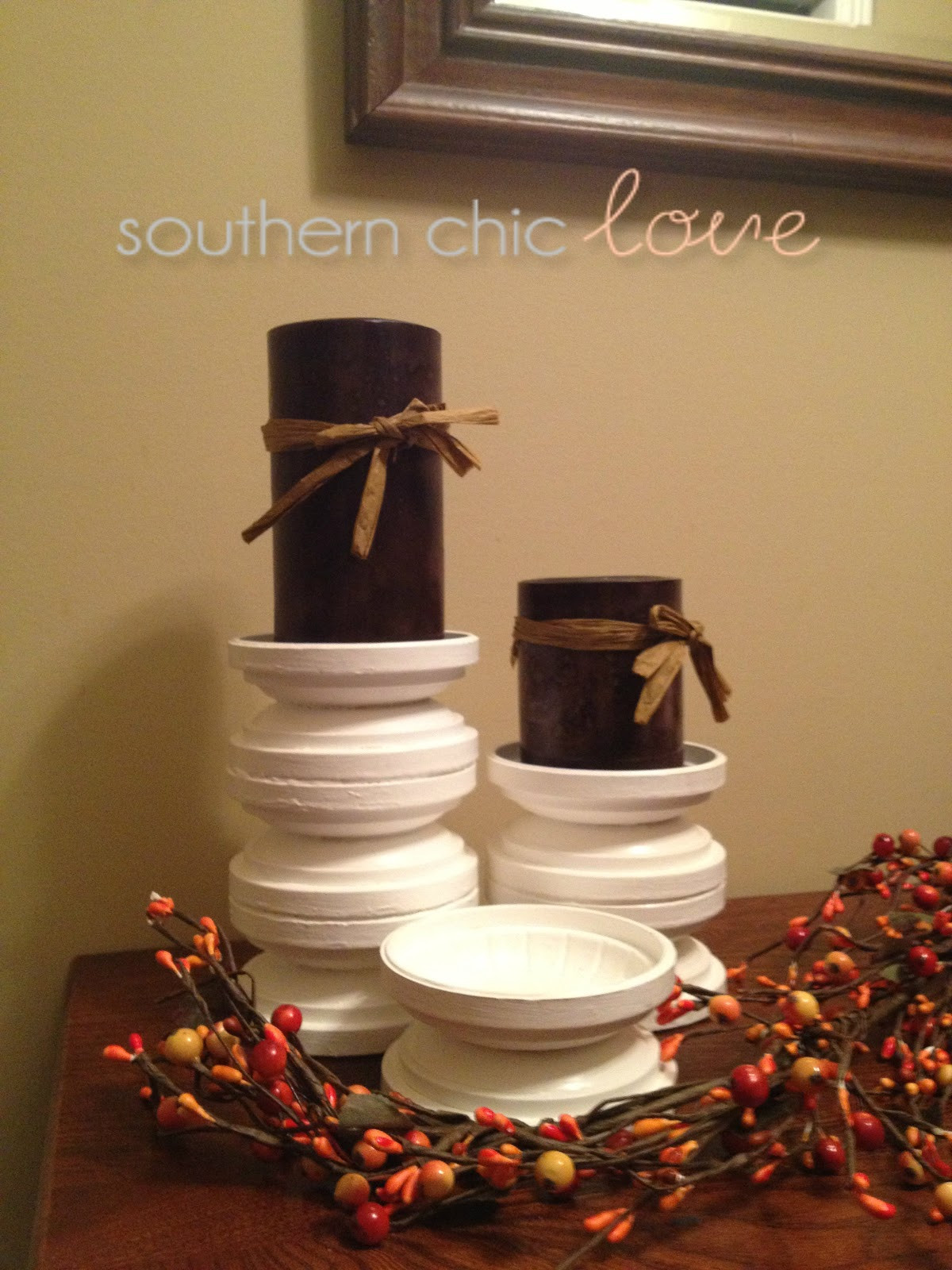 Best ideas about DIY Candle Holders . Save or Pin Southern Chic Love diy candle holders Now.