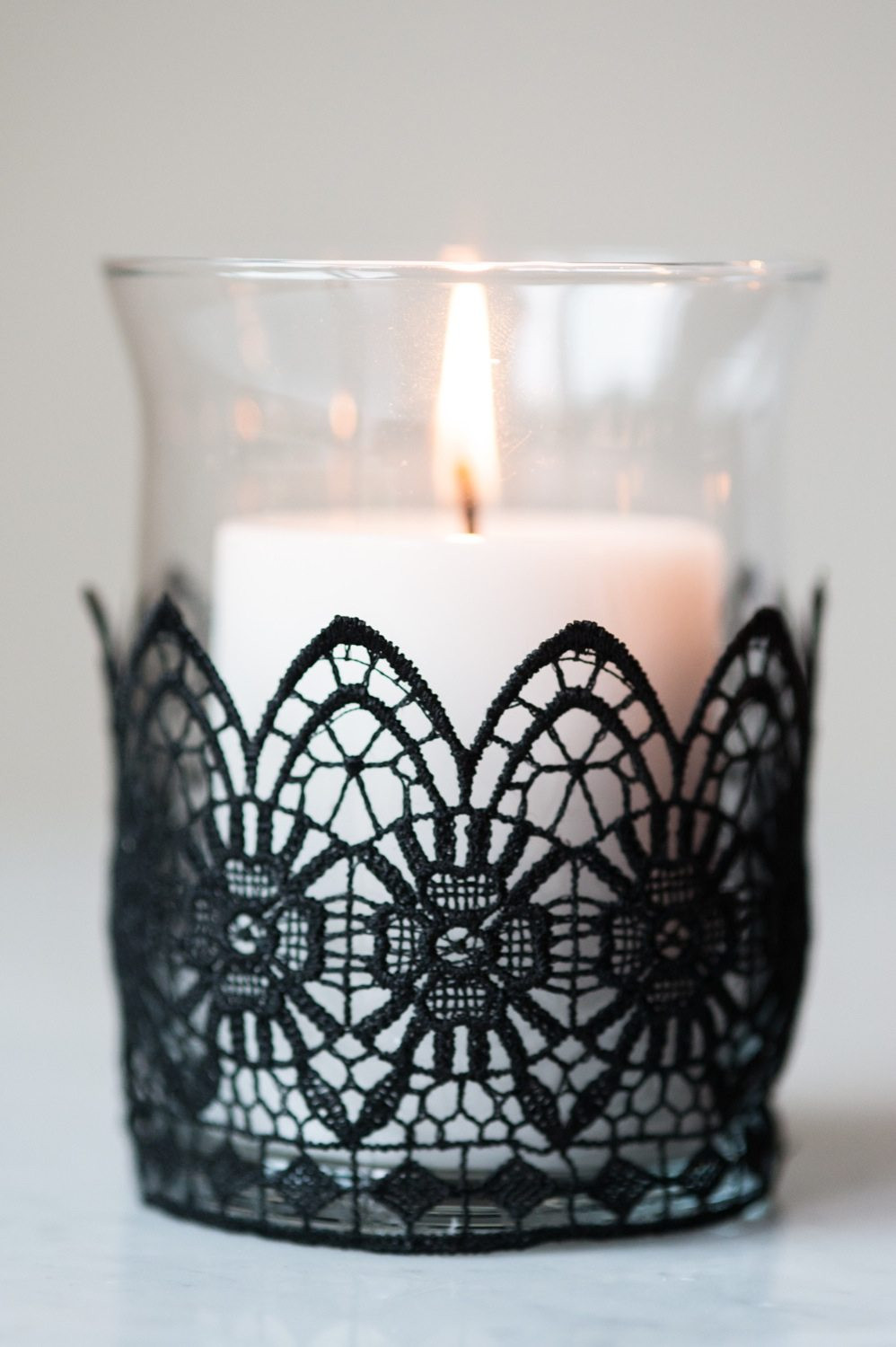 Best ideas about DIY Candle Holders . Save or Pin DIY Black Lace Candle Holders The Sweetest Occasion Now.
