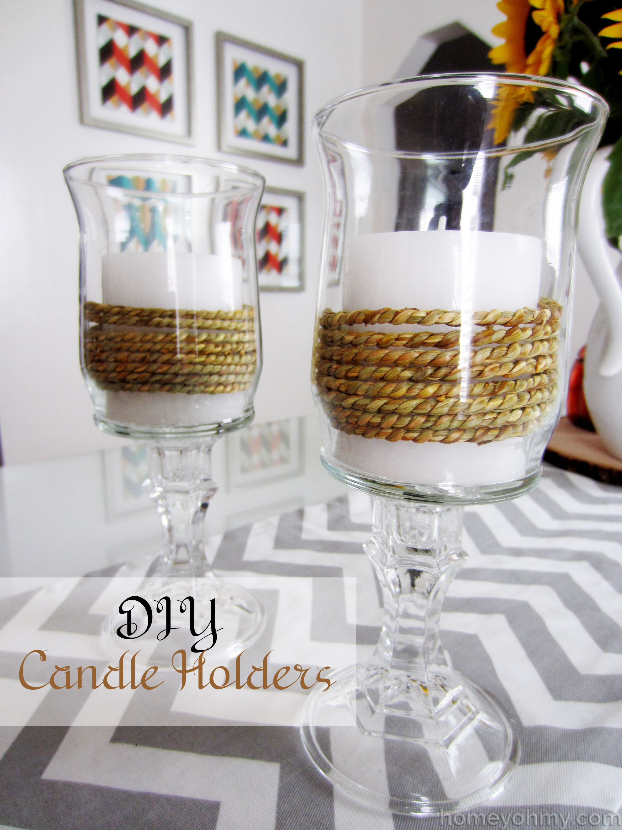 Best ideas about DIY Candle Holders . Save or Pin DIY Candle Holders Homey Oh My Now.