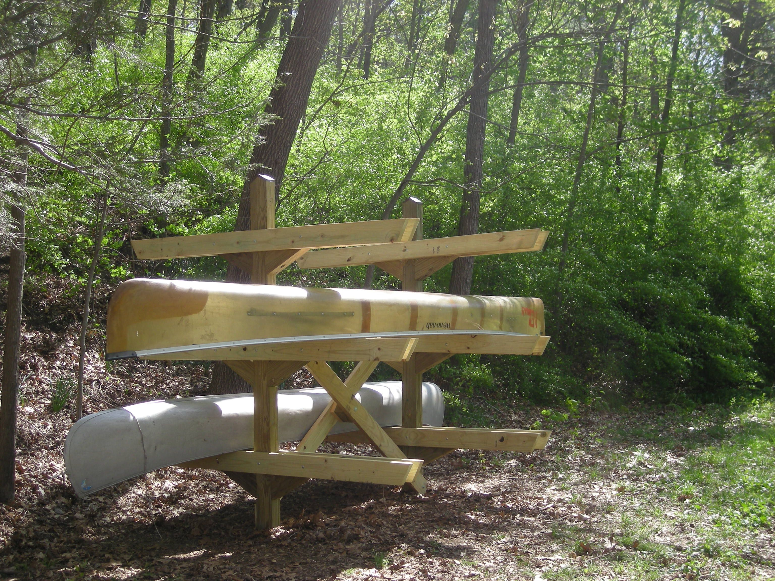 Best ideas about DIY Canoe Rack . Save or Pin Canoe Rack at Riverbend Apr 2010 by PAL Now.