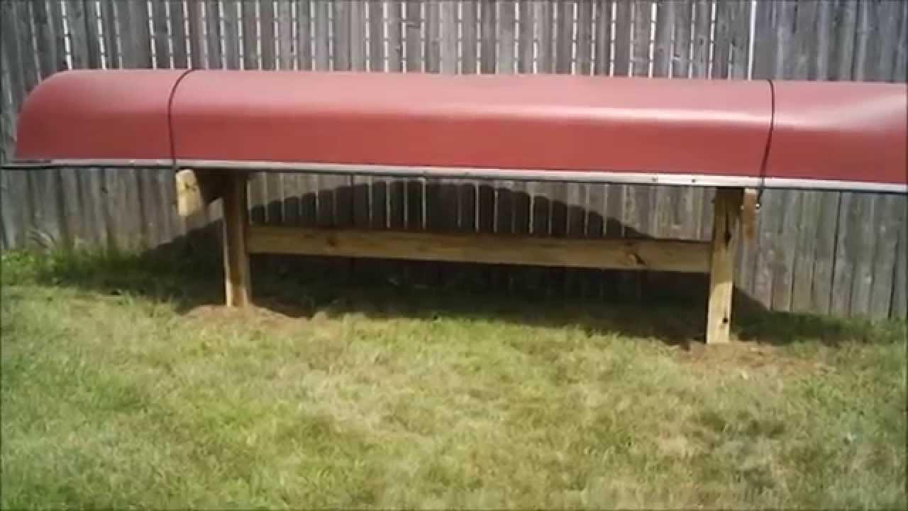 Best ideas about DIY Canoe Rack . Save or Pin DIY Canoe Storage Rack Now.