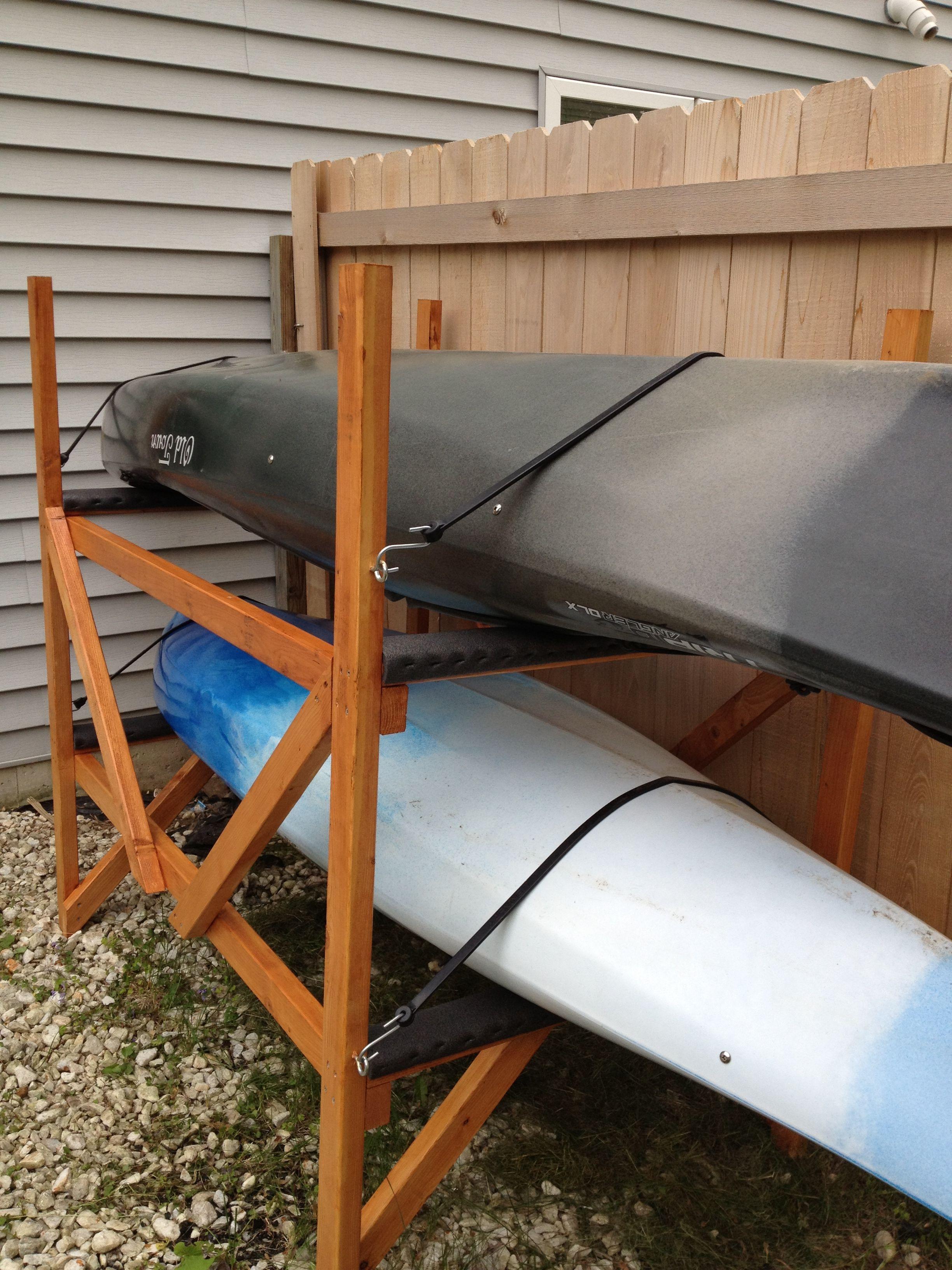 Best ideas about DIY Canoe Rack . Save or Pin DIY Kayak Rack Kayaks & Canoes Pinterest Now.