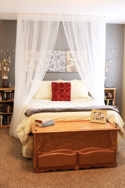 Best ideas about DIY Canopy Bed Curtains . Save or Pin Romantic DIY Canopies on a Bud • The Bud Decorator Now.