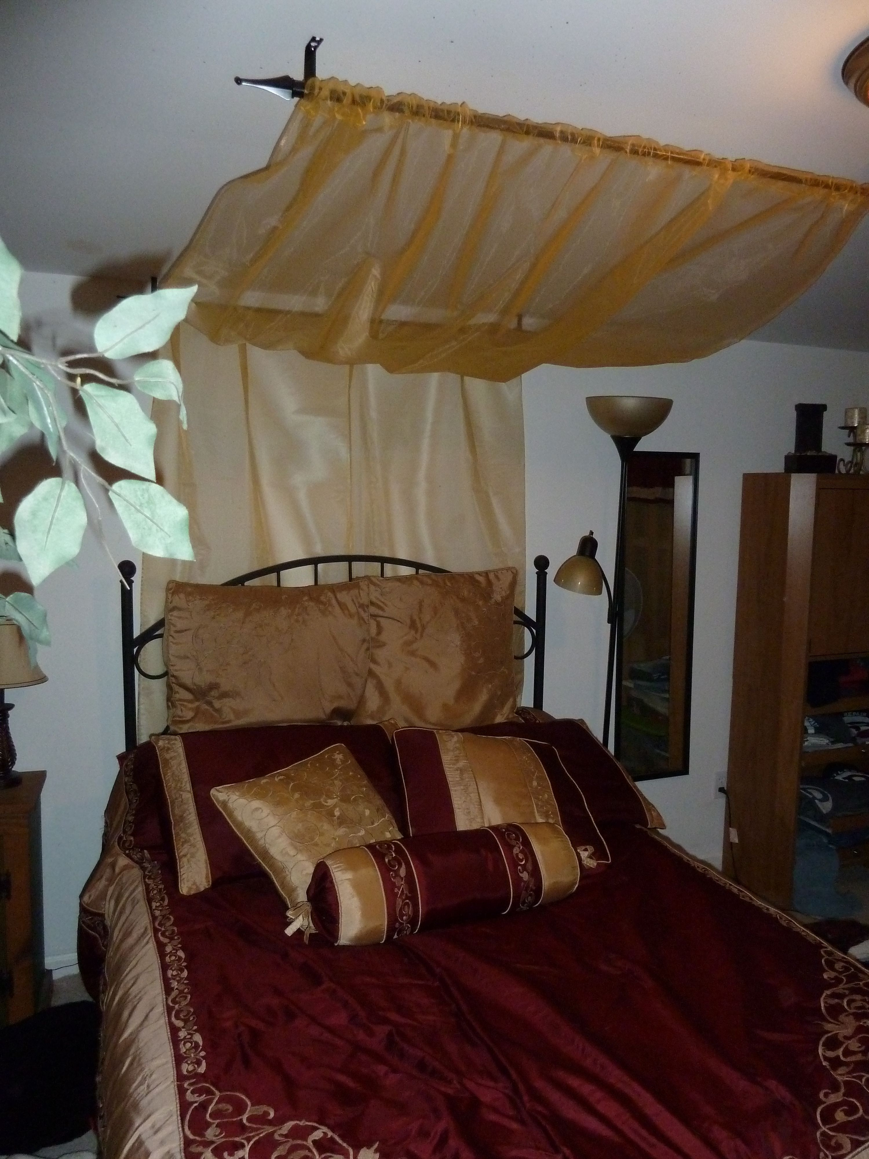 Best ideas about DIY Canopy Bed With Curtain Rods . Save or Pin Bed Canopy Rods & Diy canopy bed with curtain rods 682× Now.
