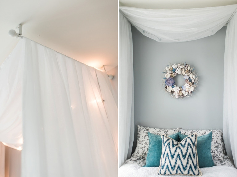 Best ideas about DIY Canopy Bed With Curtain Rods . Save or Pin Guest Bedroom Now.