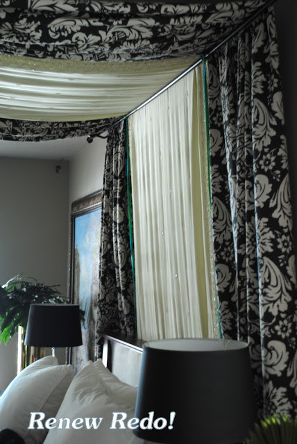 Best ideas about DIY Canopy Bed With Curtain Rods . Save or Pin Remodelaholic Now.