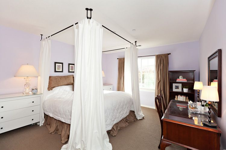 Best ideas about DIY Canopy Bed With Curtain Rods . Save or Pin Canopy bed created by mounting curtains to ceiling IKEA Now.