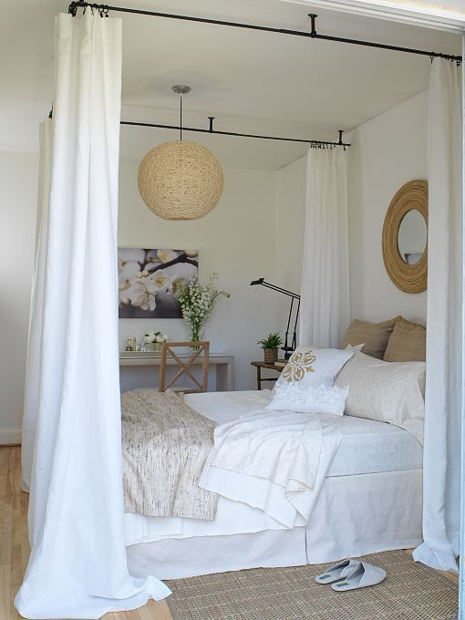 Best ideas about DIY Canopy Bed With Curtain Rods . Save or Pin Diy Canopy Bed With Curtain Rods WoodWorking Projects Now.