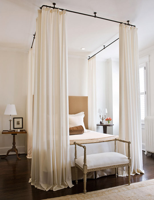 Best ideas about DIY Canopy Bed With Curtain Rods . Save or Pin Dramatic Bed Canopies and Draperies Now.