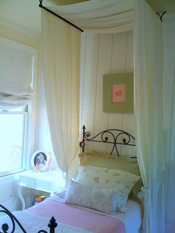 Best ideas about DIY Canopy Bed With Curtain Rods . Save or Pin 20 Magical DIY Bed Canopy Ideas Will Make You Sleep Now.
