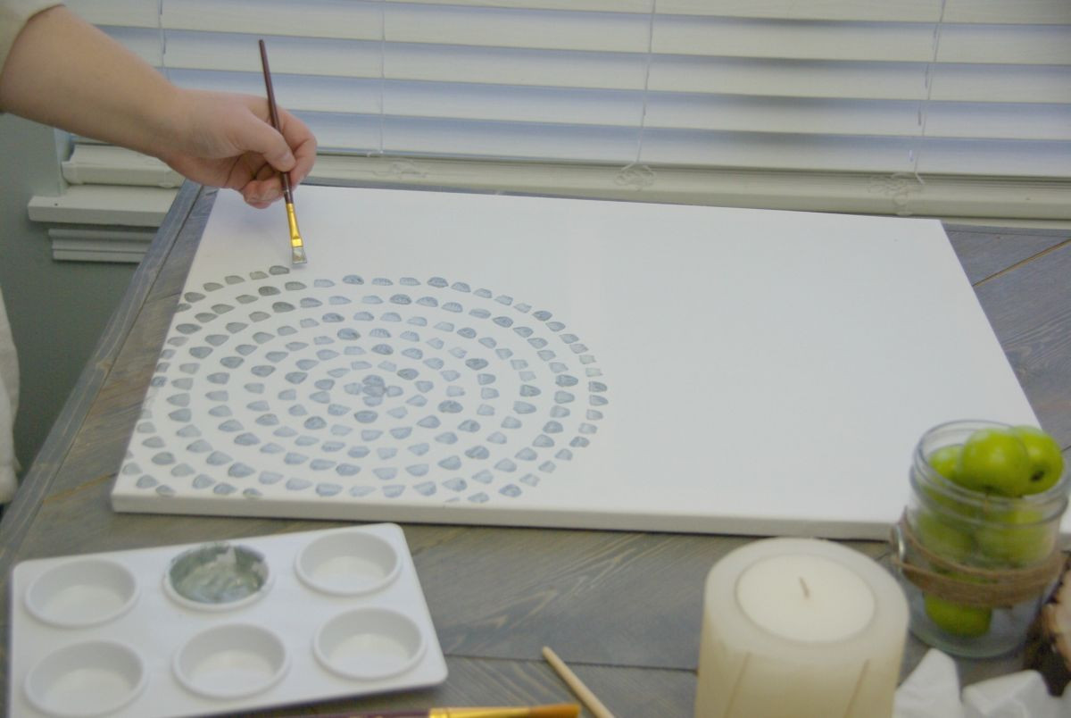 Best ideas about DIY Canvas Paintings . Save or Pin DIY Canvas Wall Art A Low Cost Way To Add Art To Your Home Now.