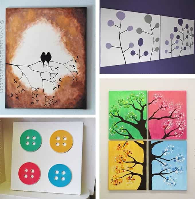 Best ideas about DIY Canvas Paintings . Save or Pin DIY Canvas Wall Art Ideas 30 canvas tutorials Now.