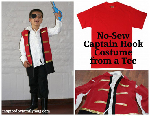 Best ideas about DIY Captain Hook Costume . Save or Pin 12 DIY Movie inspired Halloween Costumes for Kids Now.
