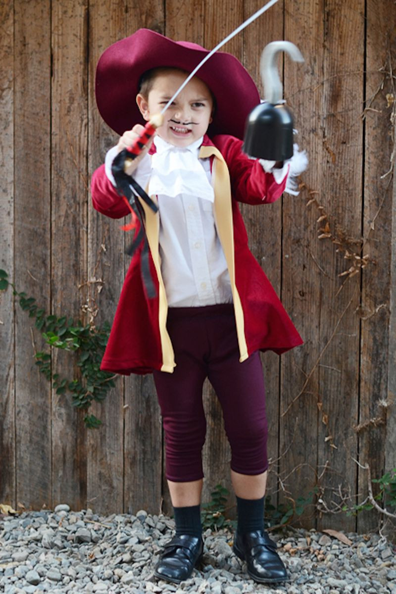 Best ideas about DIY Captain Hook Costume . Save or Pin DIY Captain Hook Halloween Costume for Kids Now.