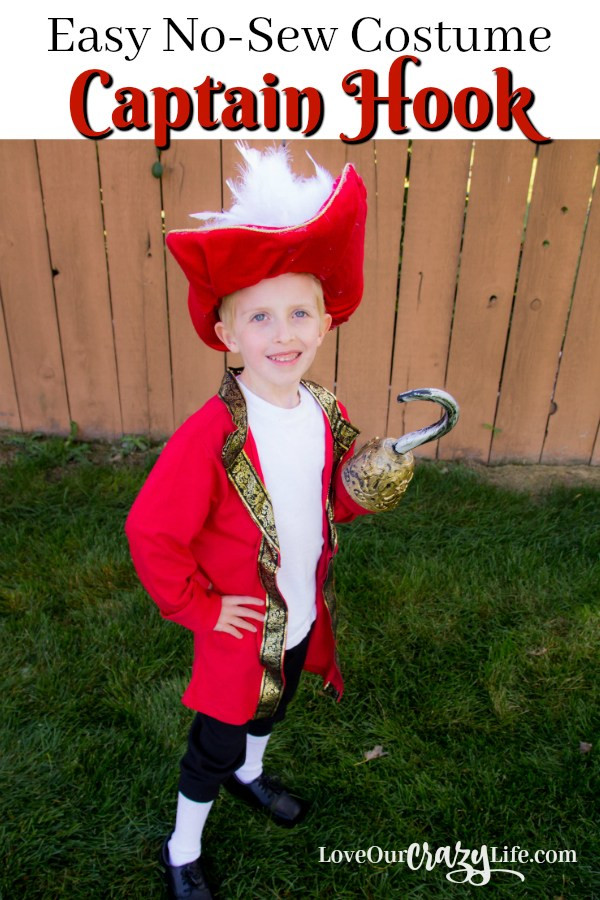 Best ideas about DIY Captain Hook Costume . Save or Pin DIY Captain Hook Costume No Sewing Required Now.