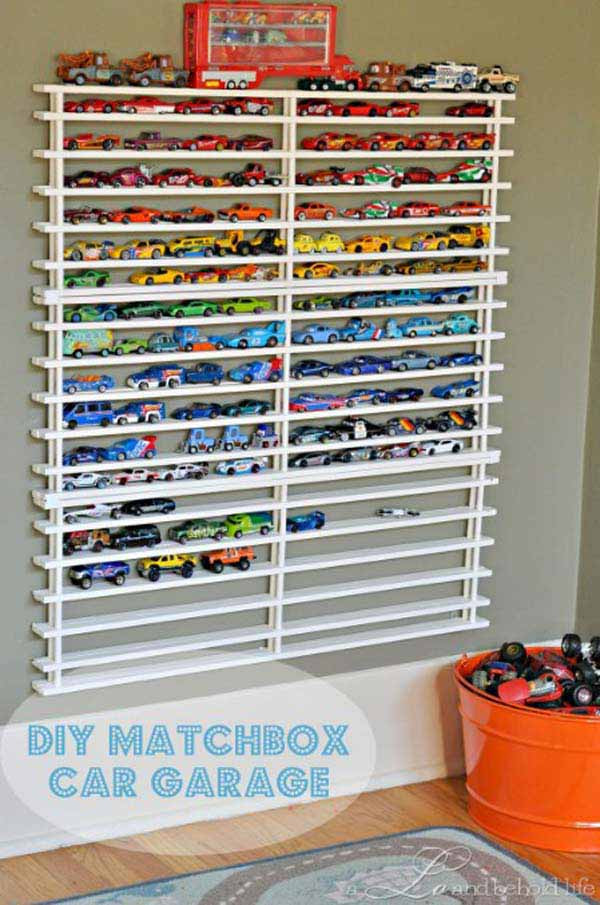 Best ideas about DIY Car Garage . Save or Pin 28 Genius Ideas and Hacks to Organize Your Childs Room Now.
