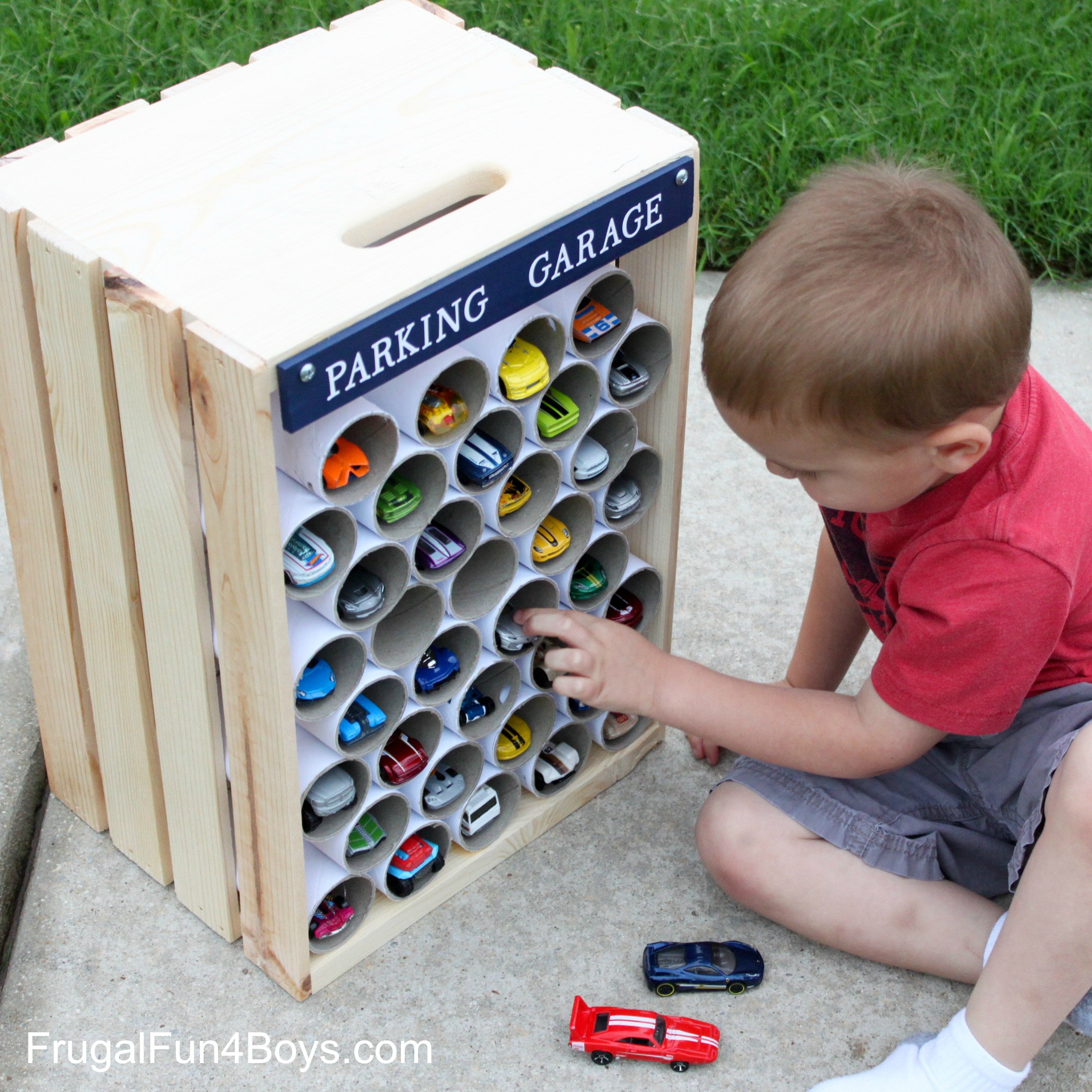 Best ideas about DIY Car Garage . Save or Pin DIY Wooden Crate Storage and Display for Hot Wheels Cars Now.