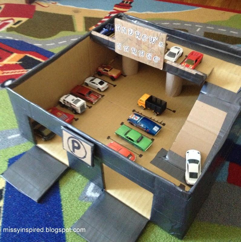 Best ideas about DIY Car Garage . Save or Pin Missy Inspired Matchbox car garage Now.