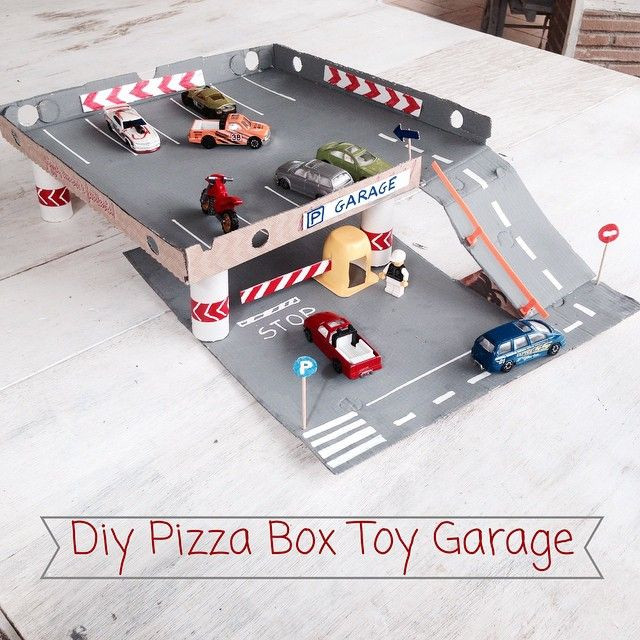 Best ideas about DIY Car Garage . Save or Pin mommo design toy garage recycling a pizza box diy Now.