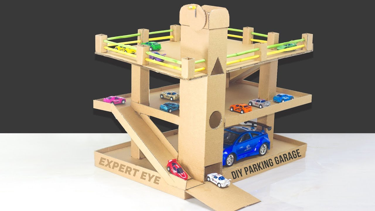 Best ideas about DIY Car Garage . Save or Pin DIY car parking Garage with lift of cardboard Garage for Now.