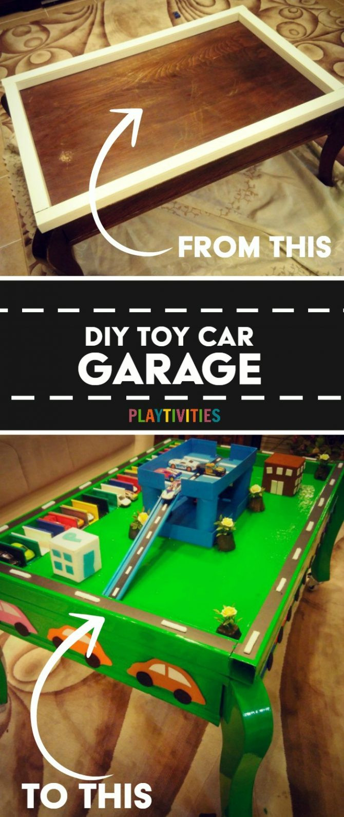 Best ideas about DIY Car Garage . Save or Pin DIY Toy Car Garage Table That Cost Almost Nothing To Make Now.